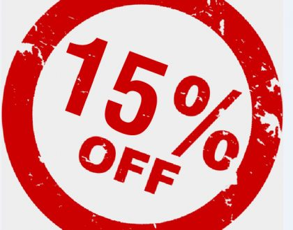 We are pleased to announce that we are now offering 15% web design discount until 15th August